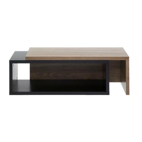 Čierny variabilný stolík TemaHome Jazz Walnut