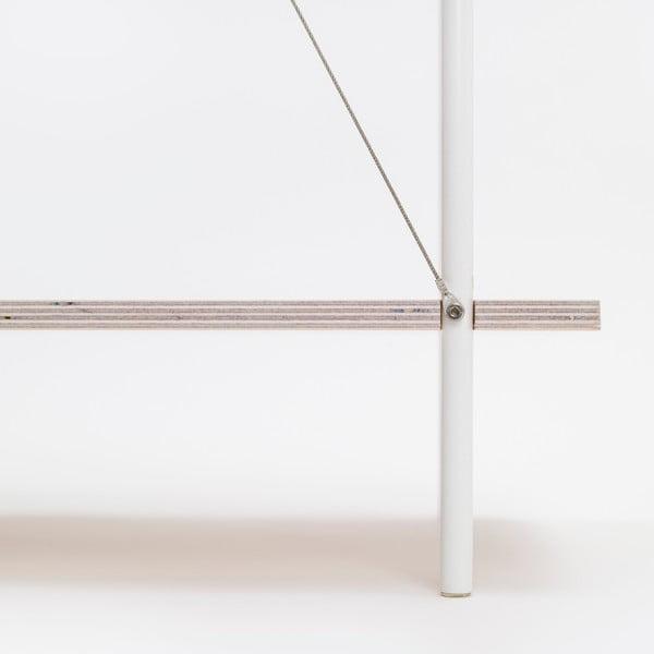 Knižnica One - biela, 77x80 cm