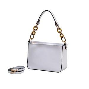 Biela kabelka z pravej kože Andrea Cardone Alberto