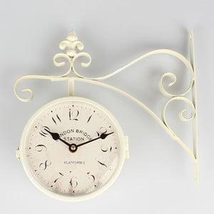 Kovové obojstranné hodiny Cross White