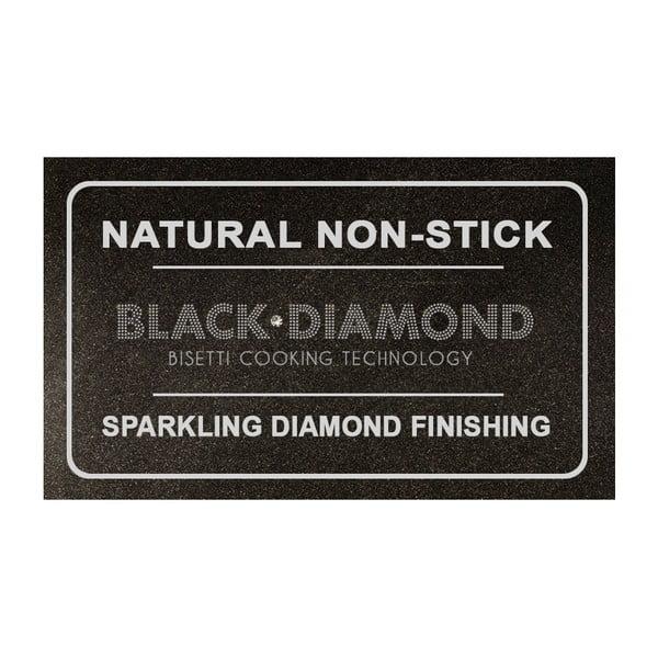 Wok panvica s rukoväťou v striebornej farbe Bisetti Black Diamond, 28 cm