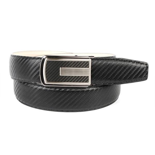 Pánsky kožený opasok 3CKB10 Black, 90 cm