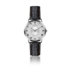 Pánske hodinky s čiernym remienkom z pravej kože Frederic Graff Croco