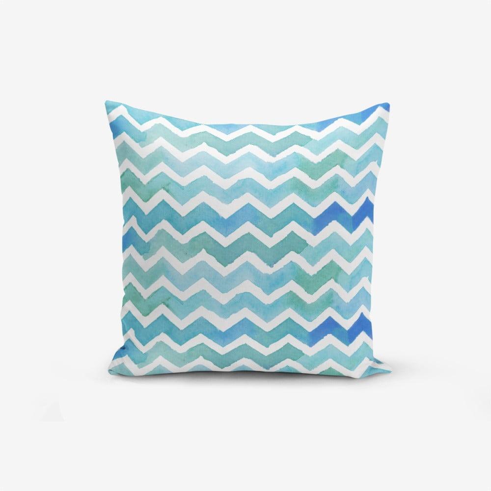 Obliečka na vankúš s prímesou bavlny Minimalist Cushion Covers ZigZag, 45 × 45 cm