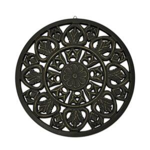 Čierna nástenná dekorácia Interiörhuset Oriental, ⌀48 cm