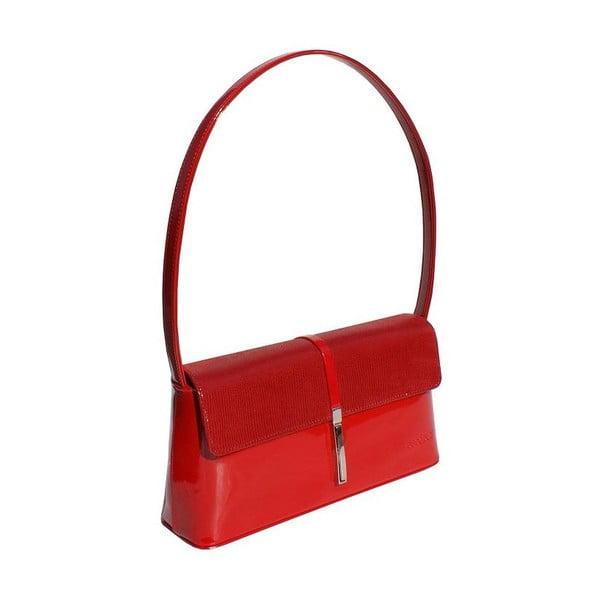 Kožená kabelka/listová kabelka  Boscollo Red 2502