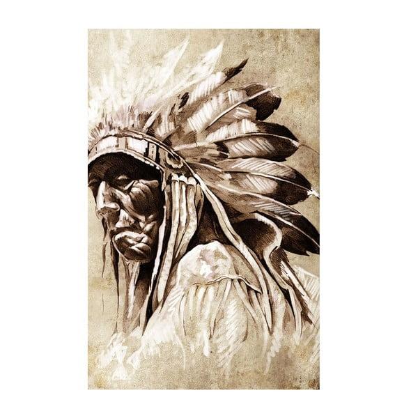 Obraz Starý indián, 45x70 cm