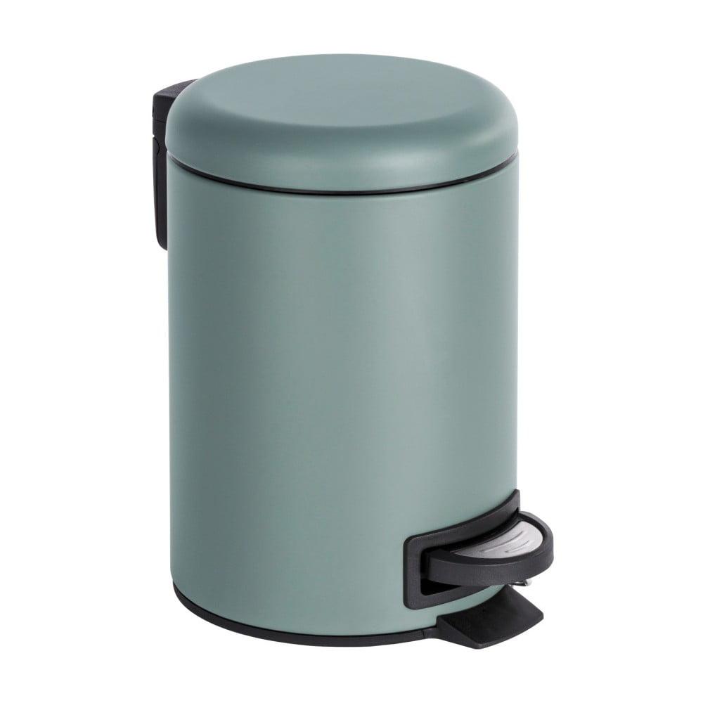 Sivý pedálový odpadkový kôš Wenko Leman, 3 l