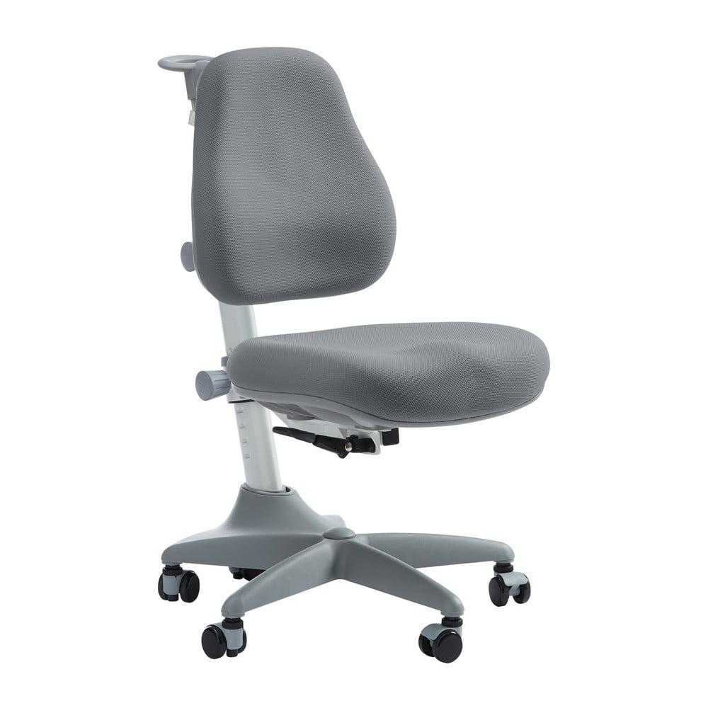 Sivá detská otočná stolička na kolieskach Flexa Verto, 7 - 12 let