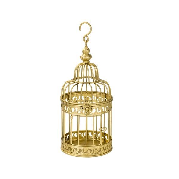 Kovový lampášik Gold Birdcage