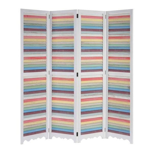 Paraván Patchwork Pastel White, 161x170 cm