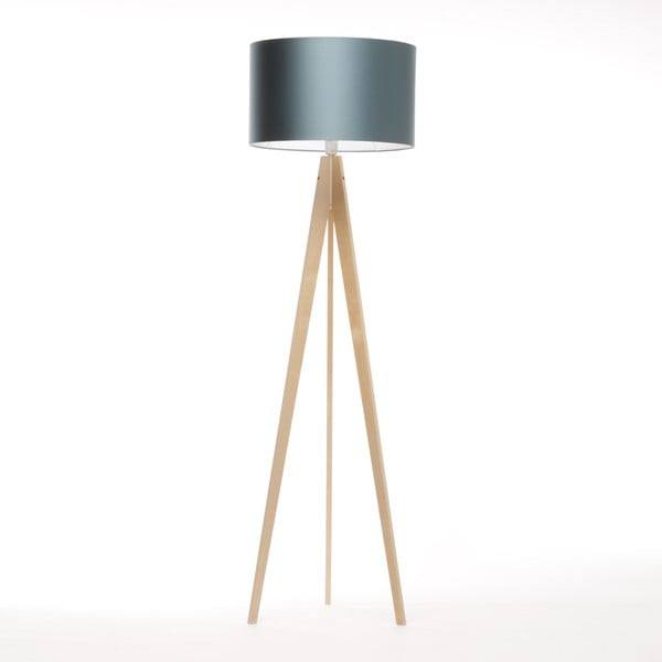 Stojacia lampa Artista Birch/Ice Blue, 125x42 cm