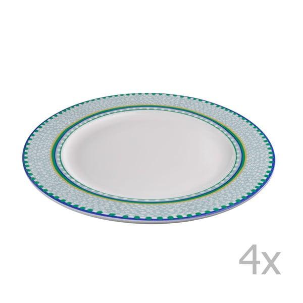 Sada 4 porcelánových tanierov Oilily 27 cm, zelená