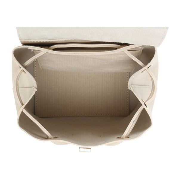 Krémový batoh z eko kože so zlatými odleskami Beverly Hills Polo Club Polly