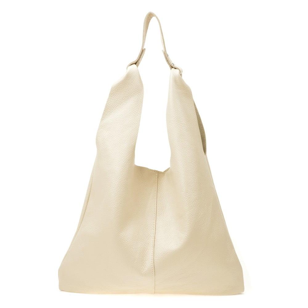 Béžová dámska kožená kabelka Sofia Cardon