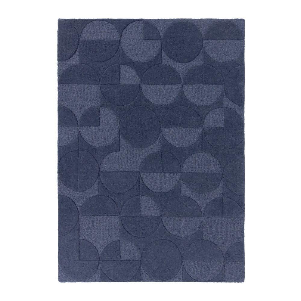 Modrý koberec z vlny Flair Rugs Gigi, 120 × 170 cm