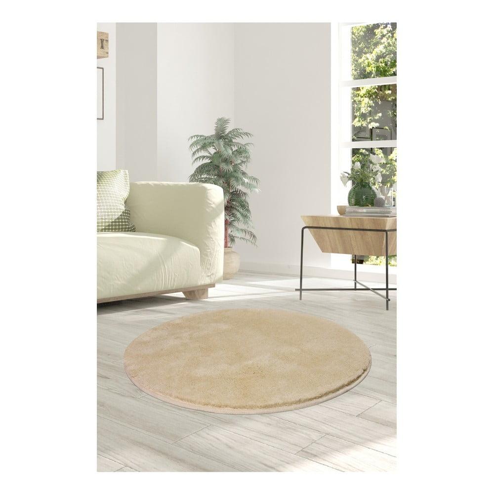 Svetlobéžový koberec Milano, ⌀ 90 cm