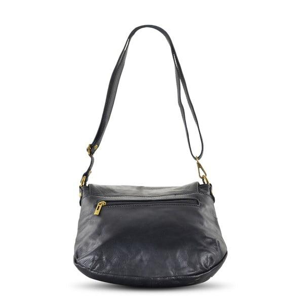 Kožená kabelka Celia, čierna
