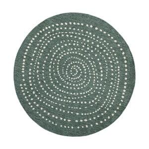 Zelený okrúhly obojstranný koberec Bougari Bali, Ø 200 cm