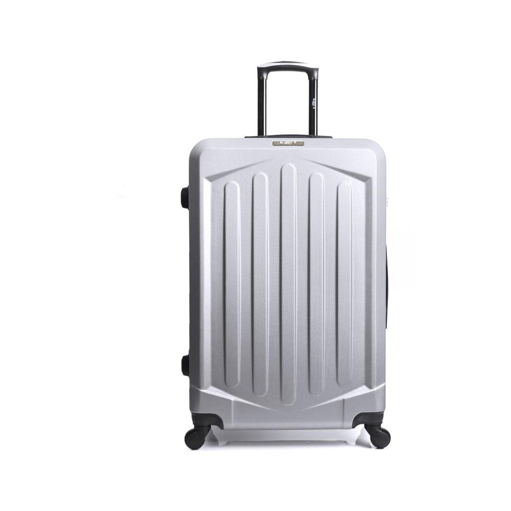 Sivý cestovný kufor na kolieskach Bluestar Pulo, 96 l