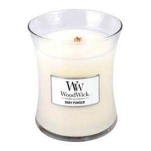 Sviečka s vôňou vanilky, medu a ruže Woodwick Detský púder, doba horenia 60 hodín