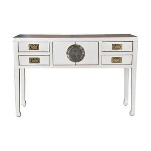 Biely čínsky konzolový stolík z topoľového dreva SOB