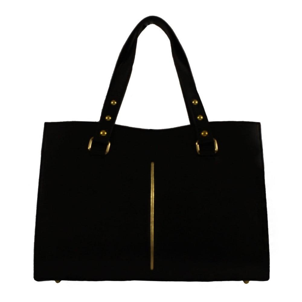 Čierna kožená kabelka Chicca Borse Veronica