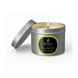 Sviečka s vôňou citrónu a bazalky Parks Candles London Twist, 25 hodín horenia