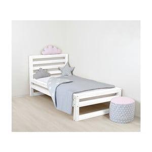 Detská biela drevená jednolôžková posteľ Benlemi DeLu×e, 160 × 80 cm