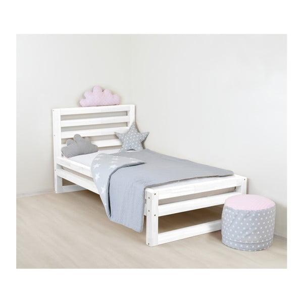 Detská biela drevená jednolôžková posteľ Benlemi DeLu×e, 160 × 90 cm