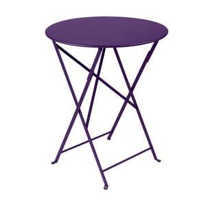 Fialový skladací kovový stôl Fermob Bistro