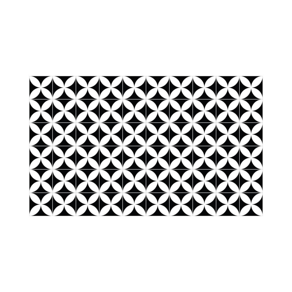 Sada 60 nástenných samolepiek Ambiance Wall Decal Cement Tiles Aniello, 15 × 15 cm
