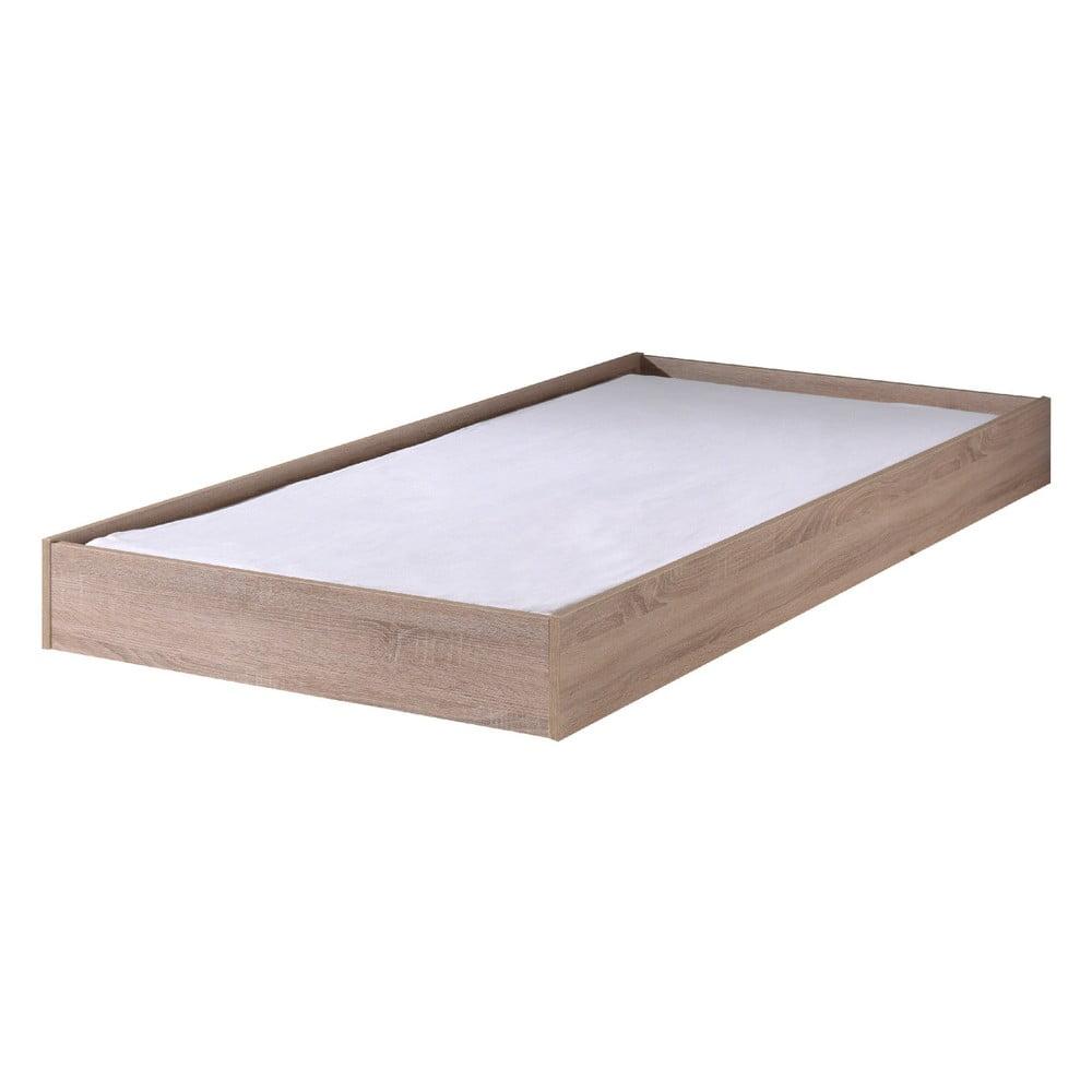 Hnedý úložný systém pod posteľ Aline Vipack, šírka 198 cm