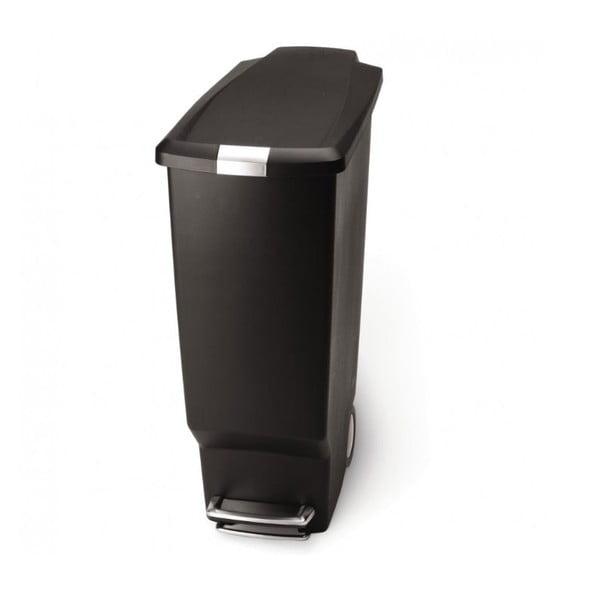 Pedálový kôš na odpadky Sisi 40 l, čierny