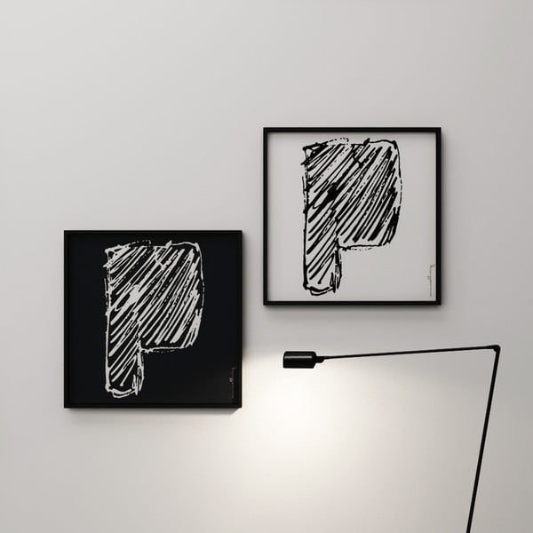 Plagát Litera P, 50x50 cm