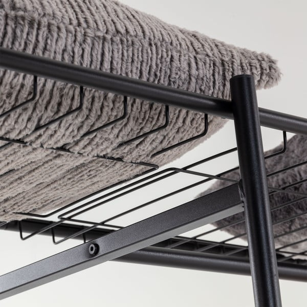 Čierny šatník La Forma Storn, výška 182 cm