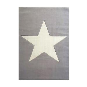 Sivý detský vlnený koberec Happy Rugs Superstar, 120x180cm