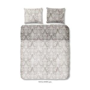Obliečka na jednolôžko z bavlneného saténu Descanso Grey, 155 x 200 cm