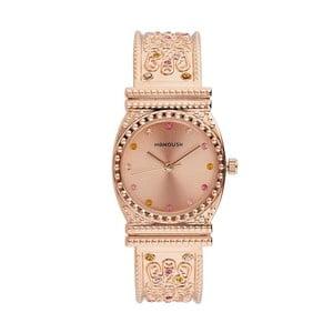 Dámske hodinky vo farbe ružového zlata s kryštálmi Manoush Afrodité