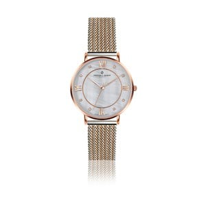 Dámske hodinky s remienkom z antikoro ocele v striebornej a zlatoružovej farbe Frederic Graff Liskamm