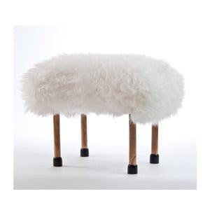Stolička z ovčej kože Nerys Ivory