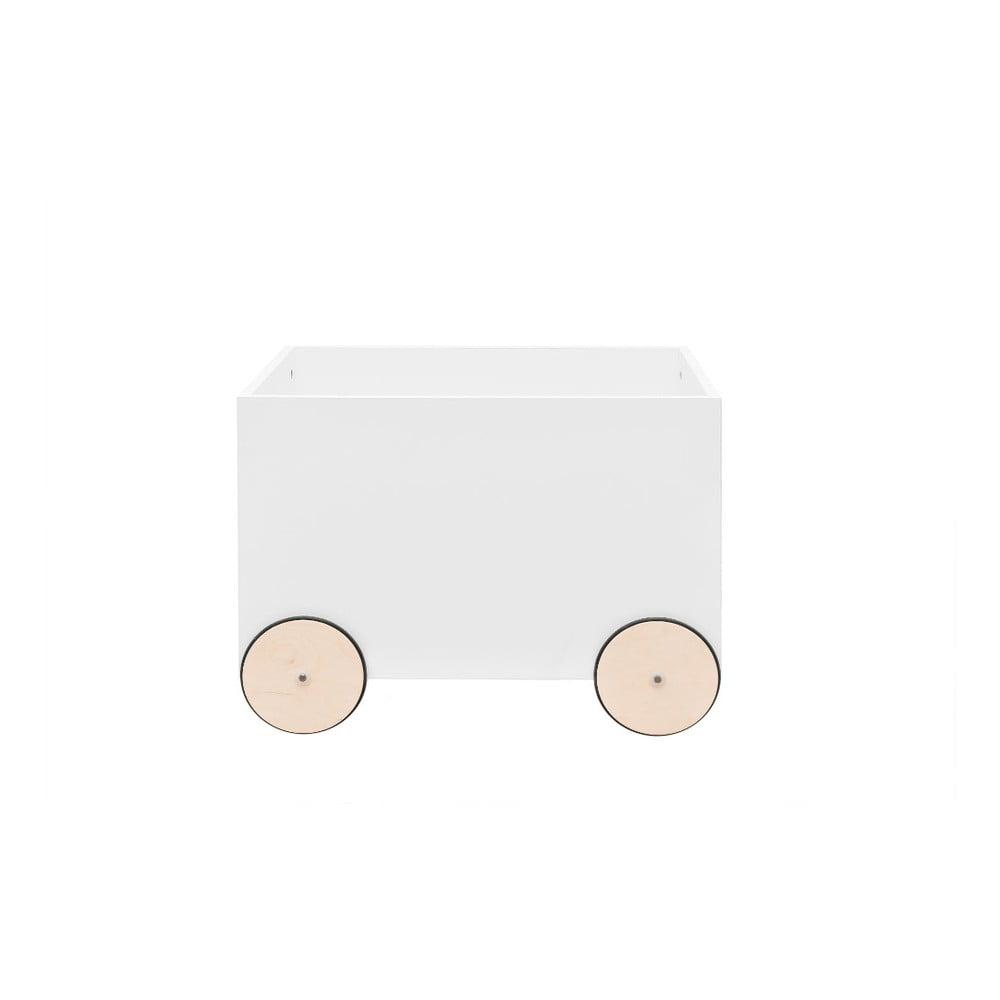 Biely pojazdný box na hračky BELLAMY Lotta