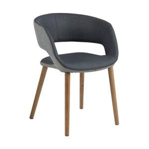Antracitovosivá jedálenská stolička Actona Greta