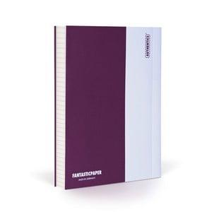 Zápisník FANTASTICPAPER A6 Aubergine/White, štvorčekový