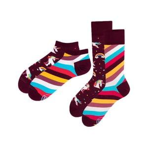 Sada 2 párov klasických a členkových ponožiek Many Mornings Unicorn, veľ. 39-42