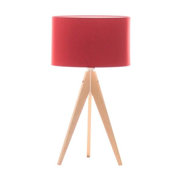 Červená stolová lampa 4room Artist, breza, Ø 33 cm