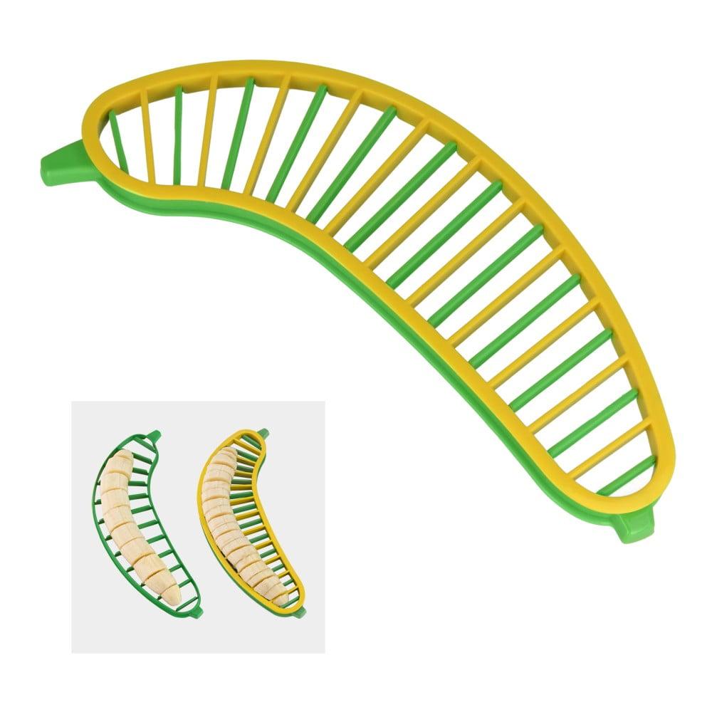 Plastový dvojitý krájač na banán Metaltex Bannana