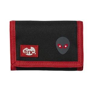 Čierna peňaženka na suchý zips TINC Allien