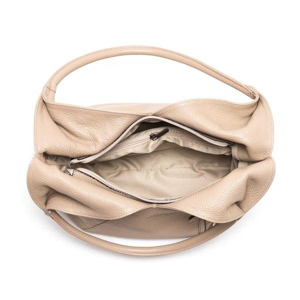 Kožená kabelka Lalia, sivohnedá