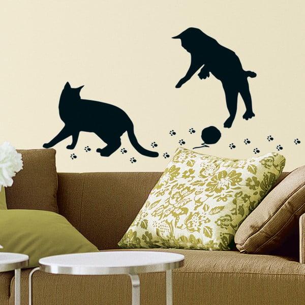 Dekorativní samolepka Mačičky s kĺbkom